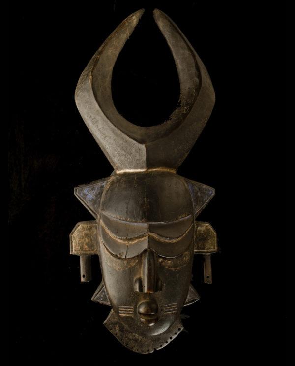 Maschera Costa d'Avorio Djimi Africa P0031 - Art Primitivo e contemporaneo - gallery Arts - arte primitiva africa - shop - spoleto umbria