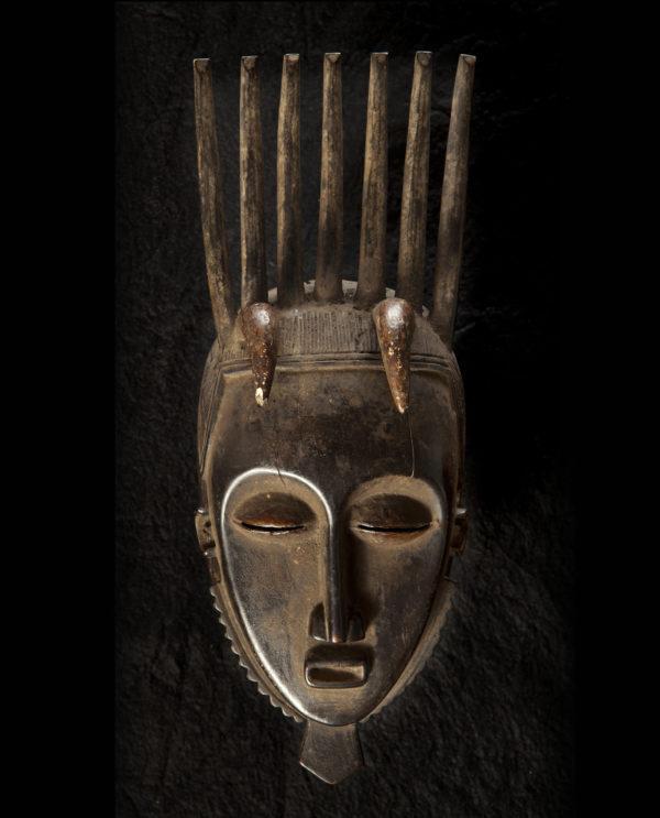 Maschera Costa d'Avorio Jaore Africa P0024 - Art Primitivo e contemporaneo - gallery Arts - arte primitiva africa - shop - spoleto umbria