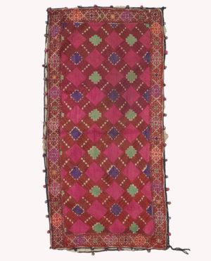 Cuscino a ricamo Valle del Swat Pakistan P0080 - Art Primitivo e contemporaneo - gallery Arts - arte primitiva africa - tribal art - shop - spoleto umbria