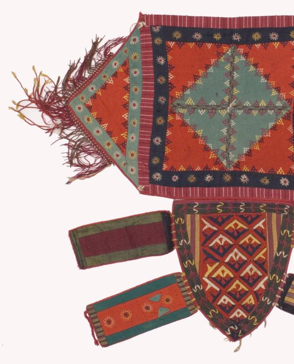Tessuto decorativo (talismano) Turkmenistan P0081 - Art Primitivo e contemporaneo - gallery Arts - arte primitiva africa - tribal art - shop - spoleto umbria