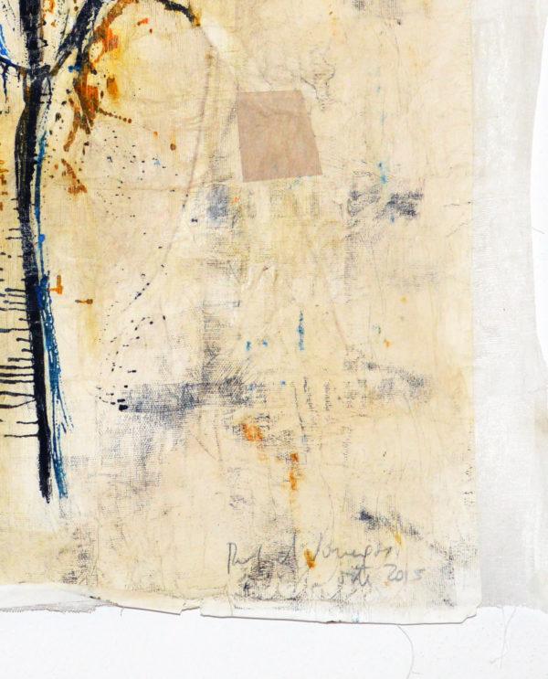 Flor gitano Rafael Vanegas collage acrilico e carta 49 x 74 cm - Art Primitivo e contemporaneo - gallery Arts - arte - shop - spoleto umbria-C0232