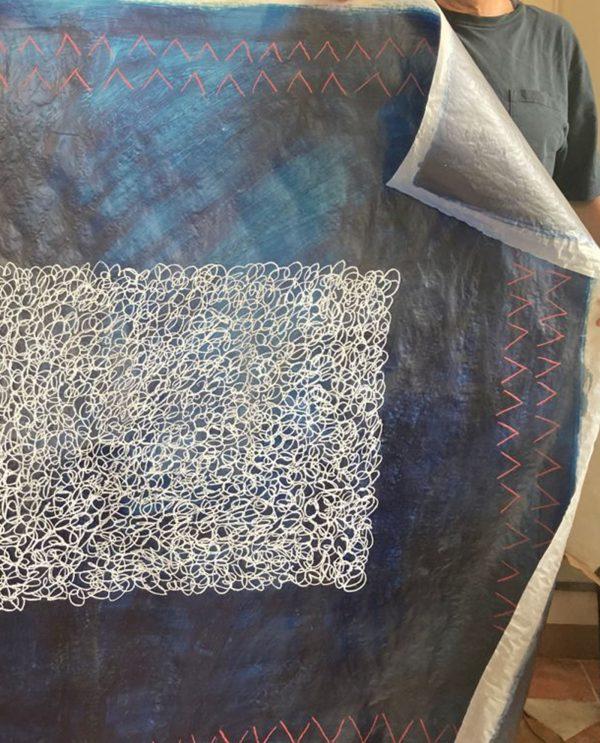 Serafino Amato - Serie blu sofreh CSA02-Art-Primitivo-e-contemporaneo-gallery-Arts-arte-shop-spoleto-umbria