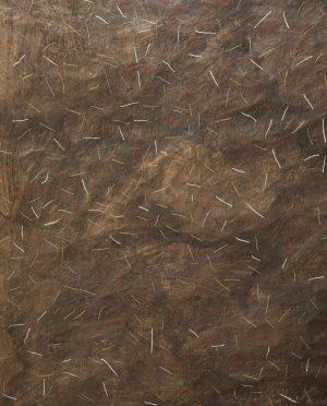 Serie marrone, graffiti bianco rosso, ocra CSA09 Serafino Amato -Art-Primitivo-e-contemporaneo-gallery-Arts-arte-shop-spoleto-umbria 3